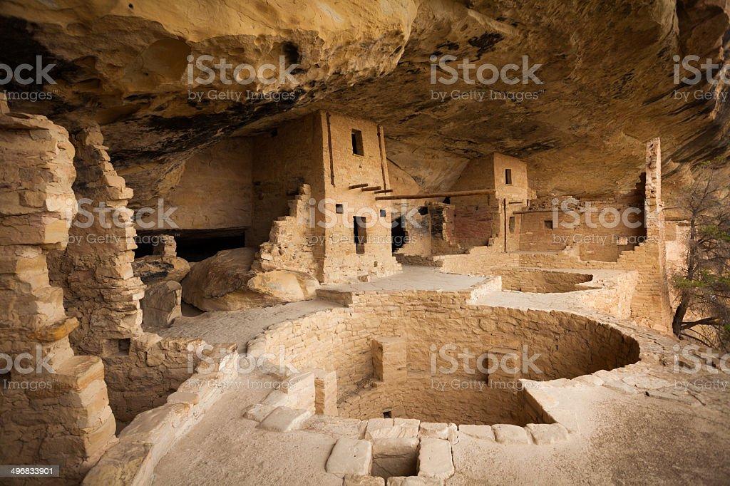 Village in Mesa Verde National Park, USA stock photo