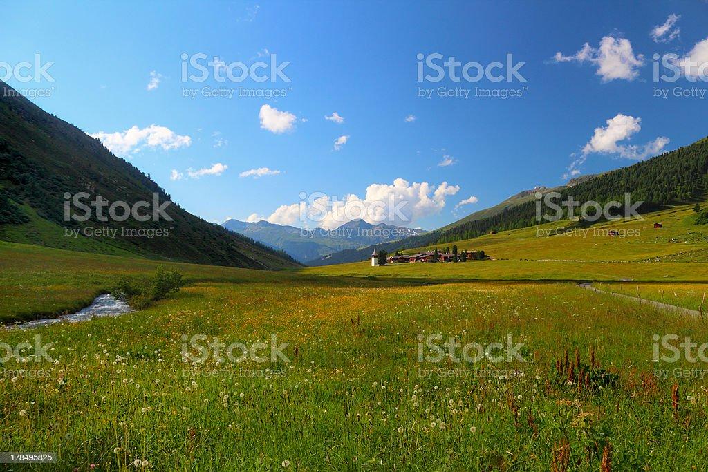 Village in mountain royalty-free stock photo