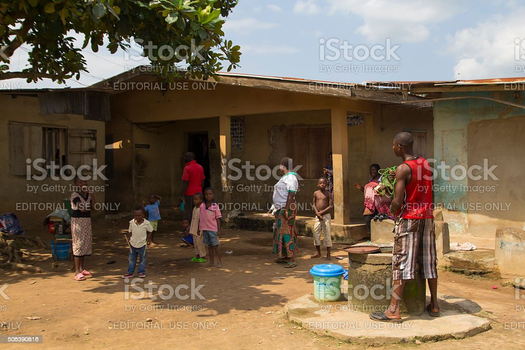 Village in Nigeria, Africa stock photo