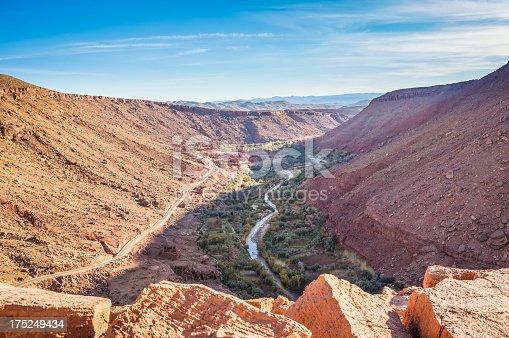 istock Village in Ounila Valley between Telouet and Ait Benhaddou, Morocco 175249434