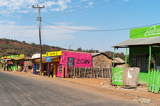Village in Rural Kenya stock photo