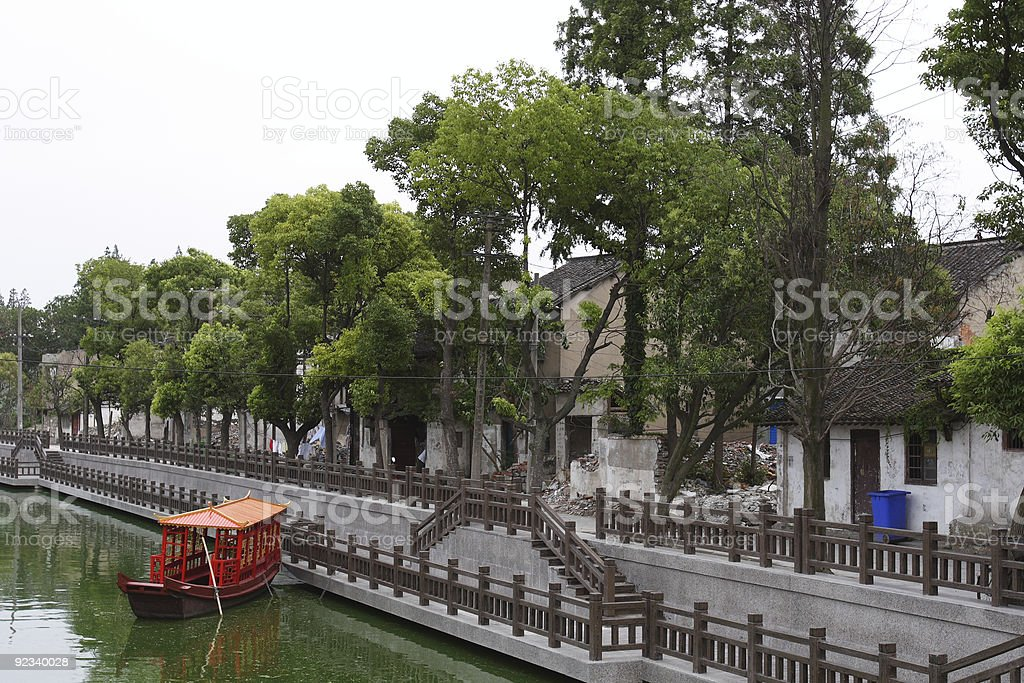Village in Shanghai, China royalty-free stock photo