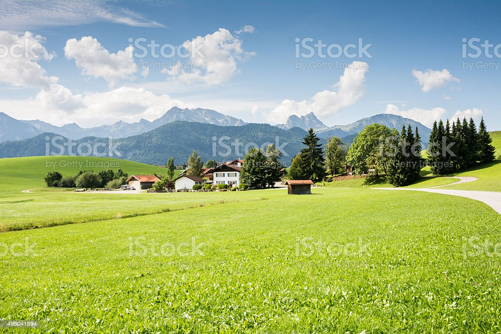 Village in the Allgaeu stock photo