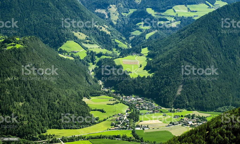 Village in the austrian alps stock photo