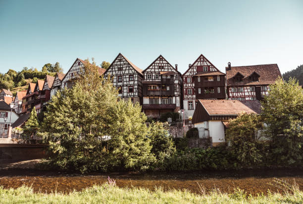 Village in the black forest of germany stock photo