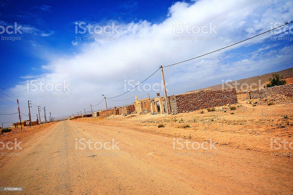 village in the desert of Morocco stock photo