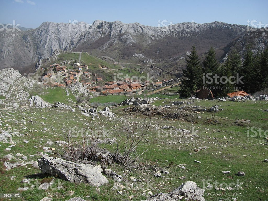 Village in the in Picos de Europa, North Spain Lizenzfreies stock-foto