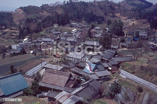 Japan, 1974. Village in the Kyusho region of southern Japan.