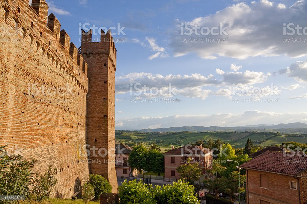 Village in the Marches, Italy royalty-free stock photo