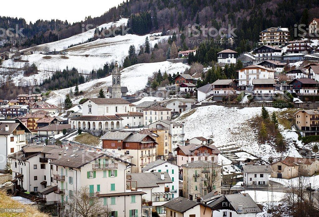 Village In The Mountain stock photo