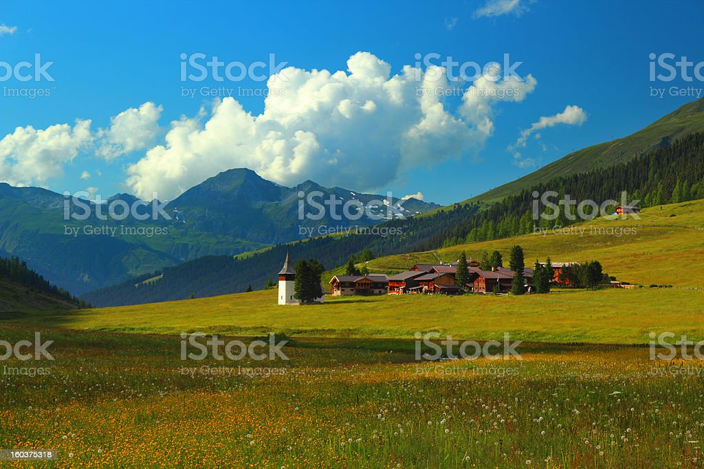 Village in the mountains royalty-free stock photo