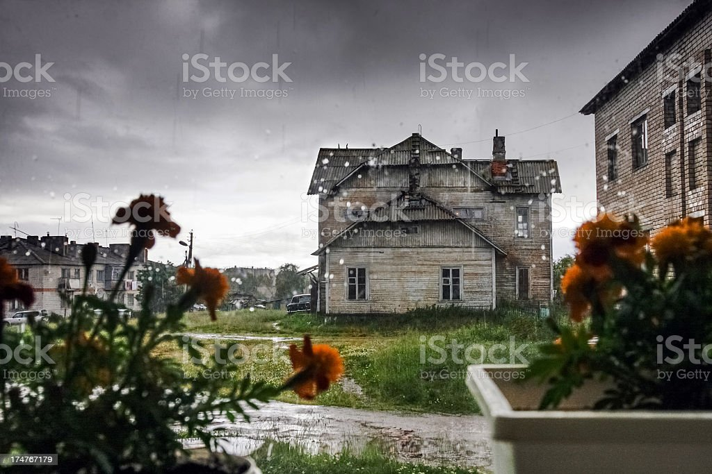 Village in the Russian North stock photo
