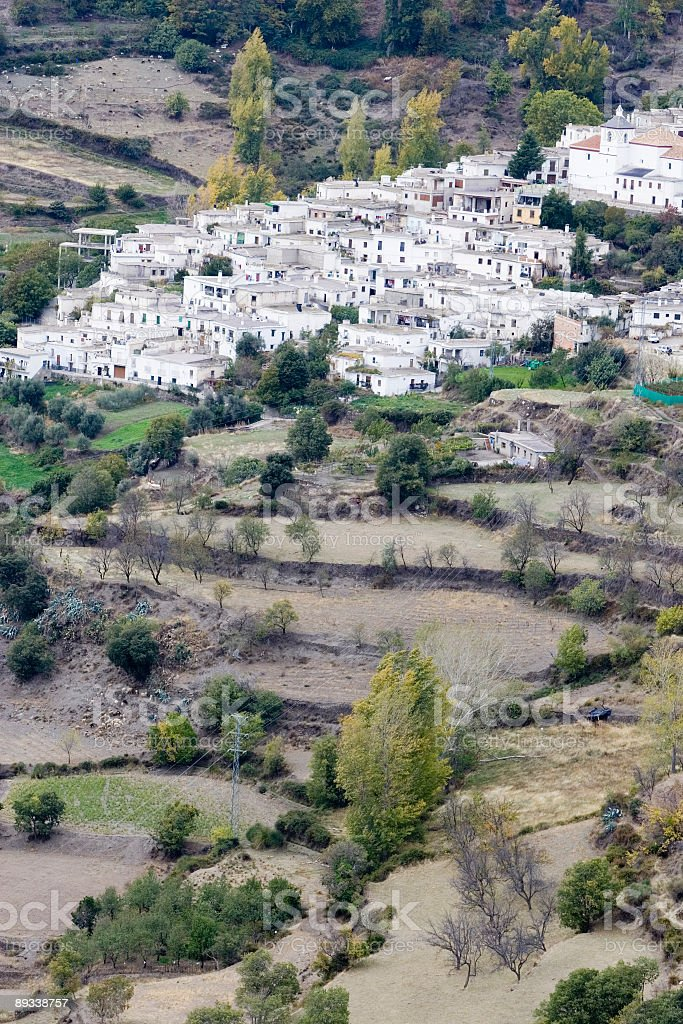 village in the sierra nevada, spain royalty-free stock photo