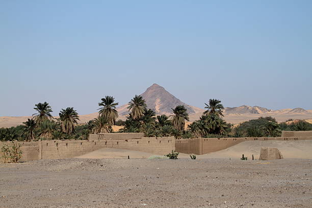 village in the sudanese sahara - sudan stock photos and pictures