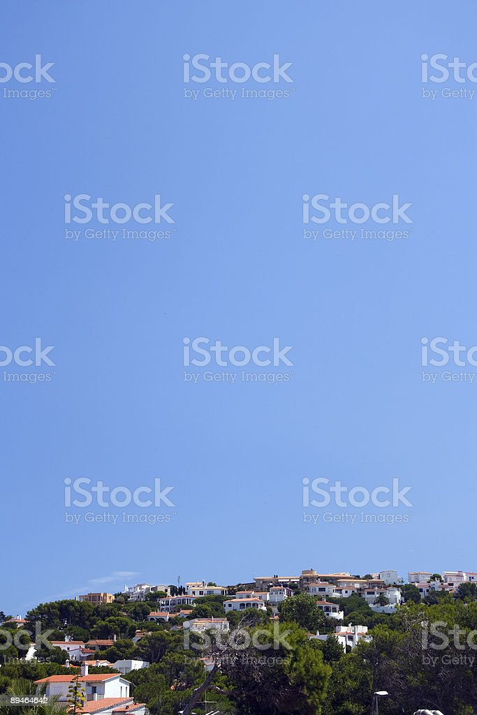 Village in the sun (portrait) royalty-free stock photo