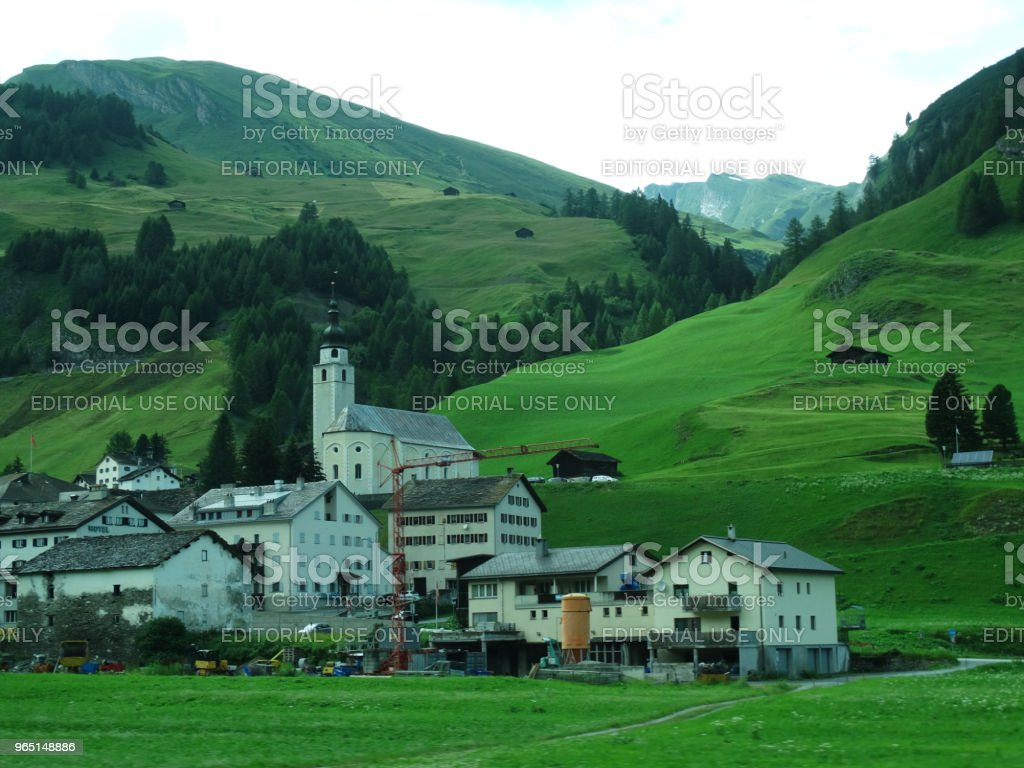 Village in the Swiss Alps royalty-free stock photo