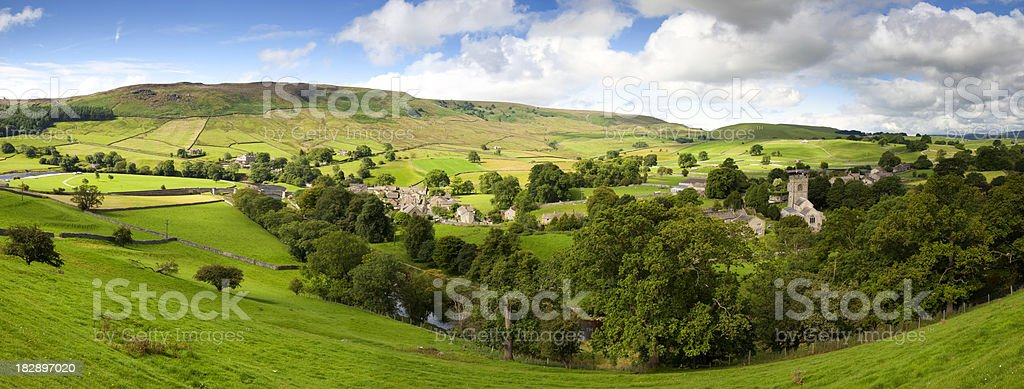 Village In The Yorkshire Dales stock photo