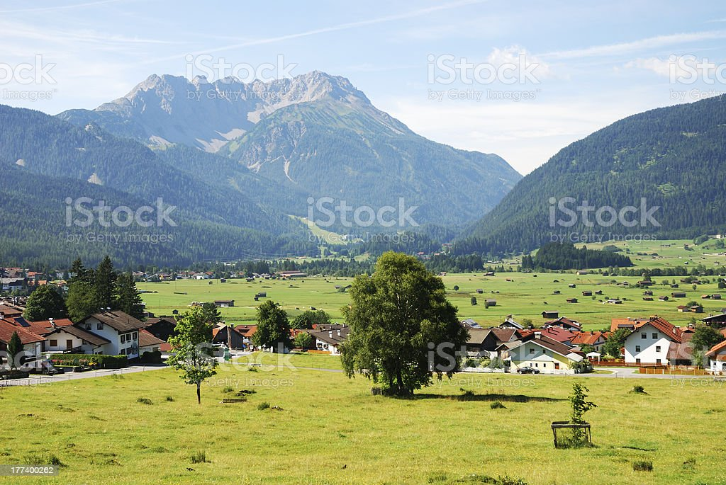 Village in Tirol stock photo