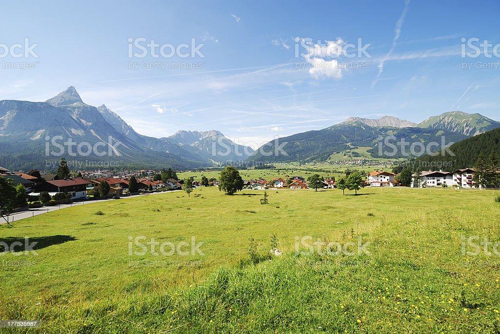 Village in Tirol royalty-free stock photo
