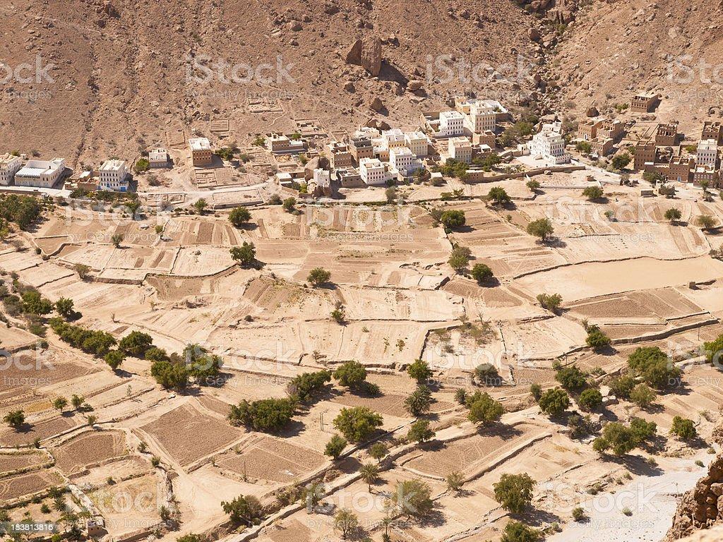 Village in wadi Doan royalty-free stock photo
