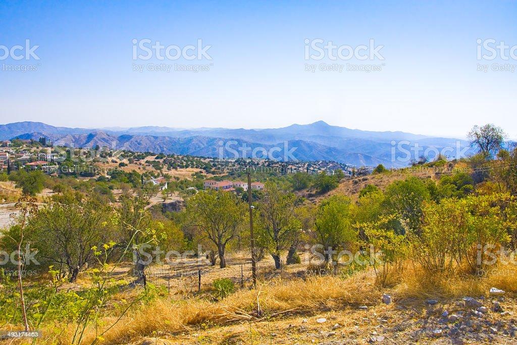 Village Lefkara, Cyprus royalty-free stock photo