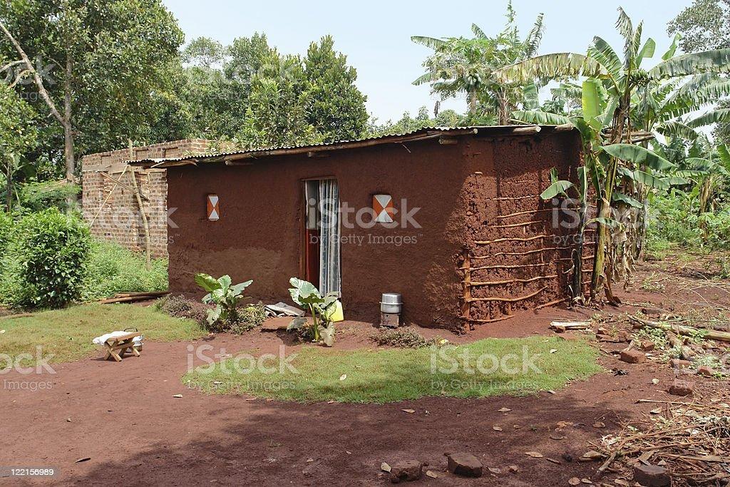 village near Bujagali Waterfalls stock photo