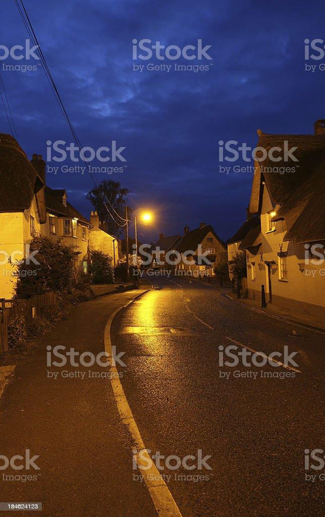 Village Night stock photo