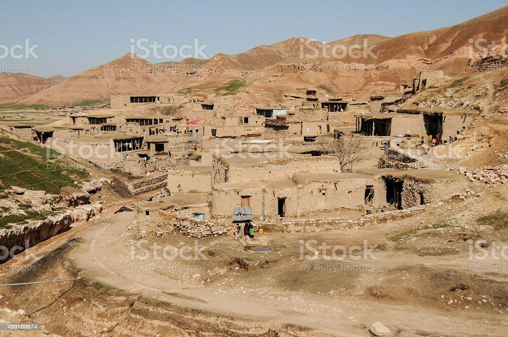 Village, Northern Afghanistan stock photo