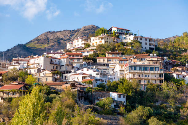 Village of Agros. Limassol District, Cyprus stock photo
