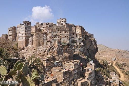 Village of Al Hajjarah on mount Haraz, Yemen