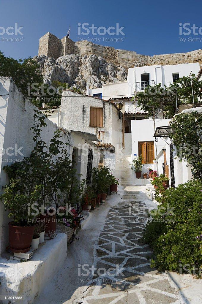 Village of Anafiotika stock photo