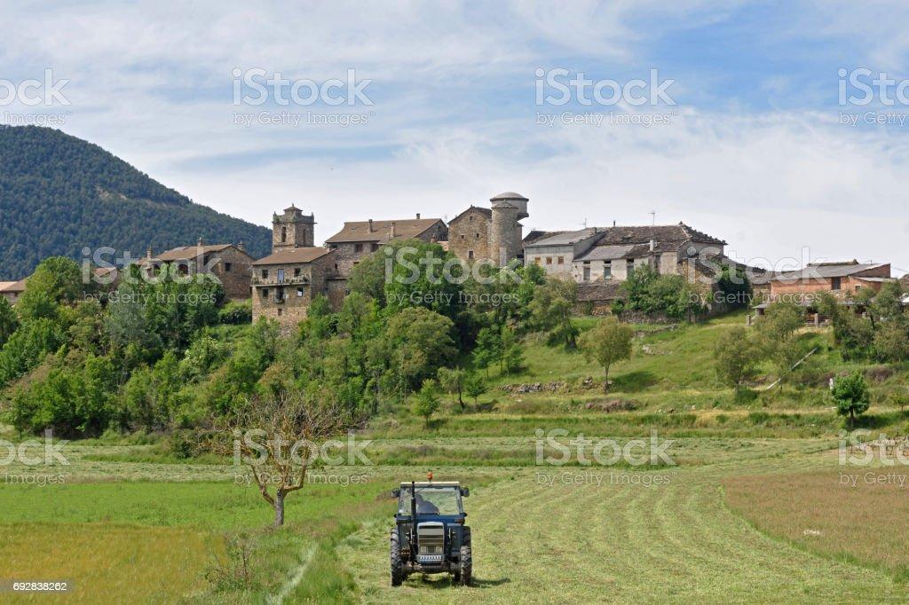 Village of Arro, Sobrarbe, Huesca province, Aragon, Spain stock photo
