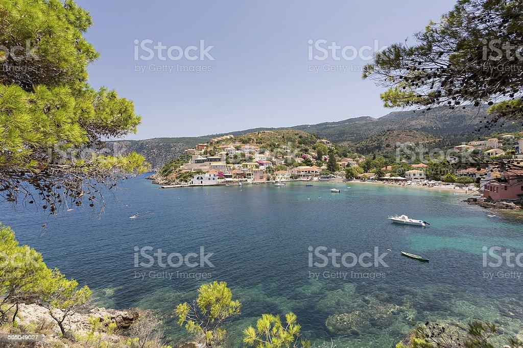 Village of Assos royalty-free stock photo