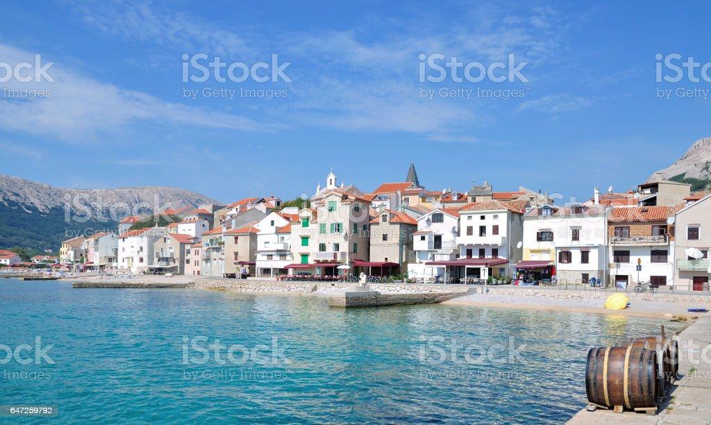 Village of Baska,Krk,adriatic Sea,Croatia – Foto