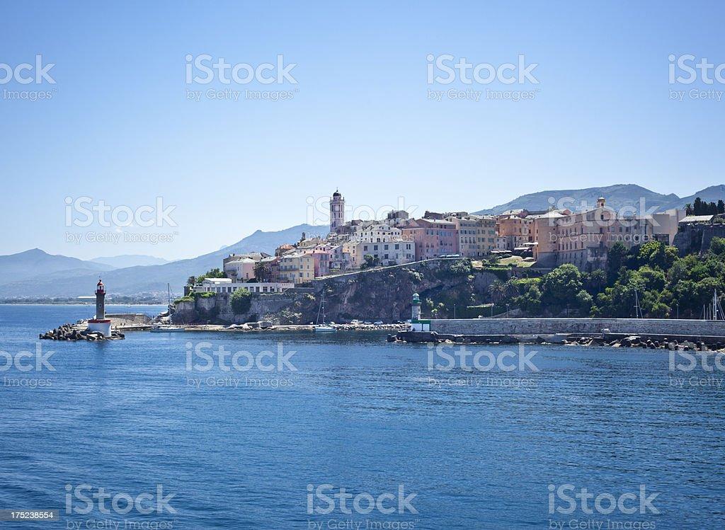 Village Of Bastia, Corsica France stock photo