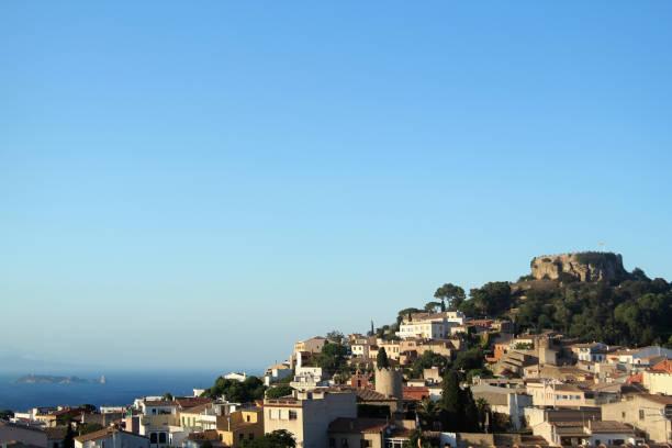 Village of Begur,Medas islands in the background, Costa Brava, Girona,Catalunya, Spain, - foto de stock