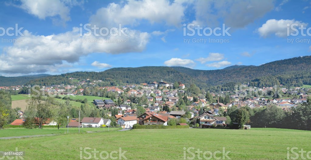 Village of Bodenmais,bavarian Forest,Germany stock photo