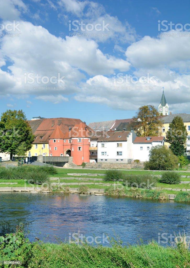Village of Cham(Oberpfalz),bavarian Forest,Germany stock photo