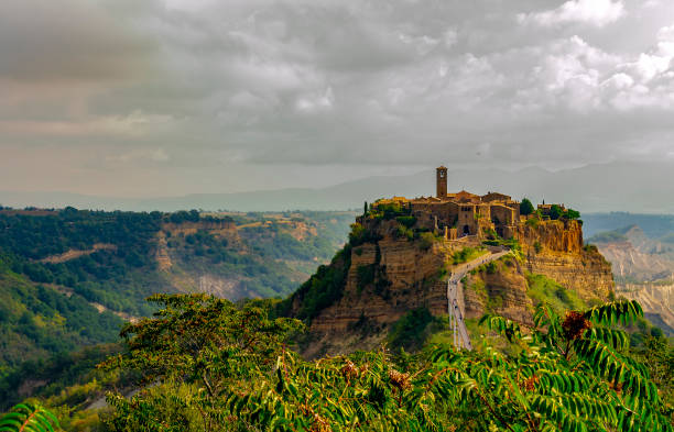 Village of Civita di Bagnoregio (Viterbo, Lazio, Italy). stock photo