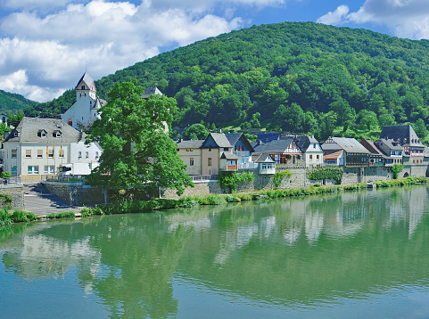 Village of Dausenau at Lahn River,Rhineland-Palatinate,Germany