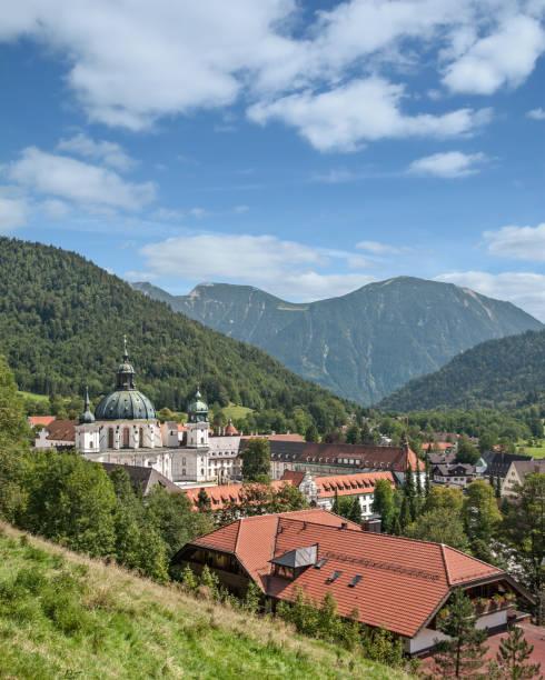 Dorf von Ettal Ettal Abbey, Oberbayern, Deutschland – Foto