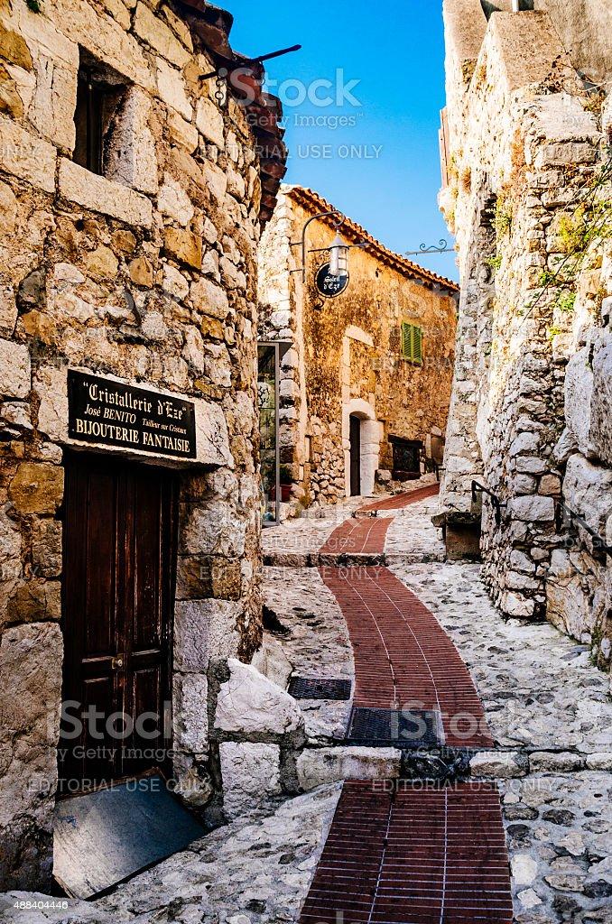 Village of Eze, French Riviera stock photo