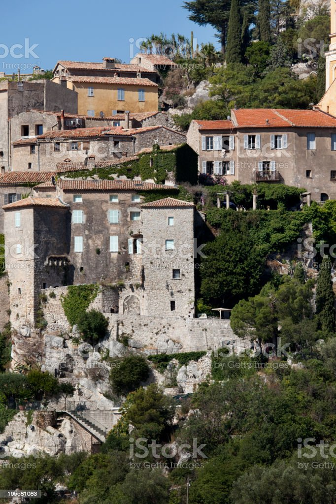 Village of Eze in Provence France stock photo