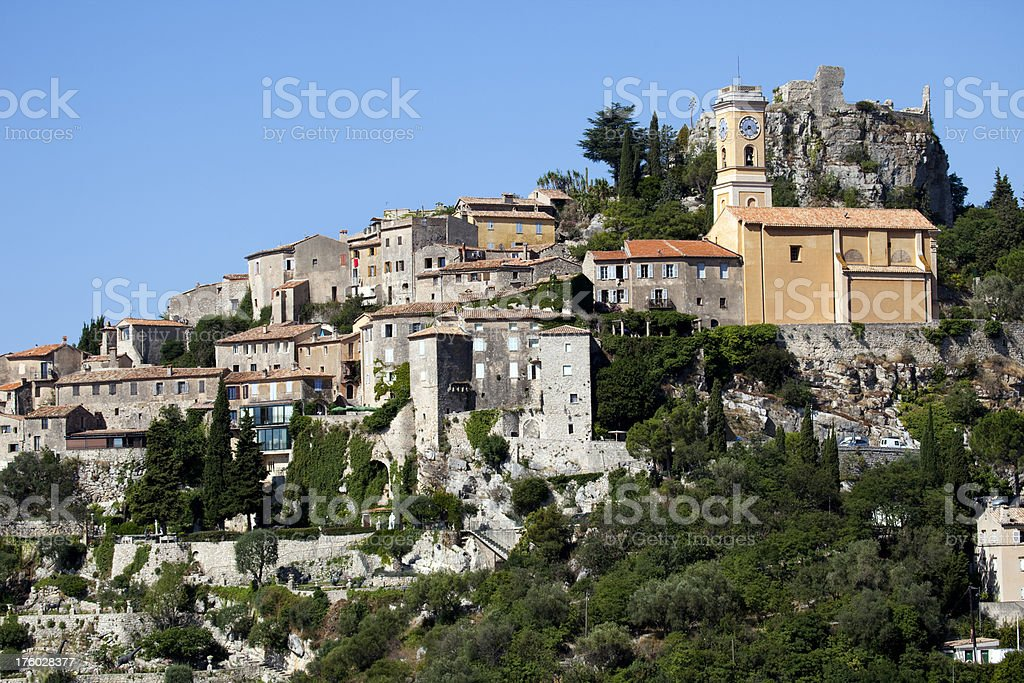 Village of Eze in Provence stock photo