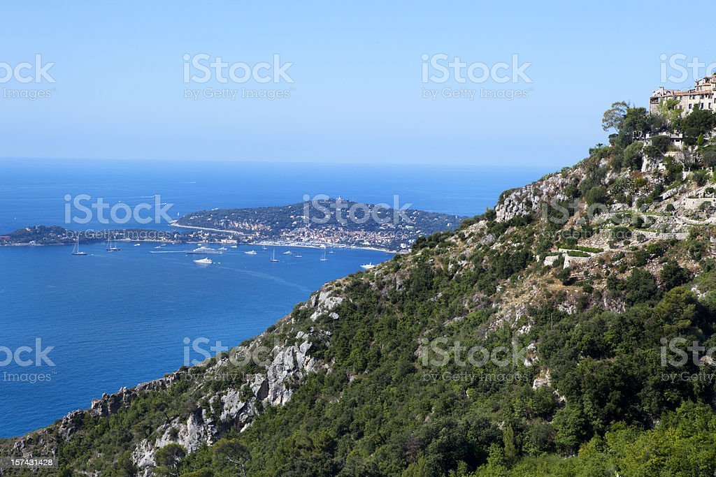 Village of Eze on French Riviera royalty-free stock photo