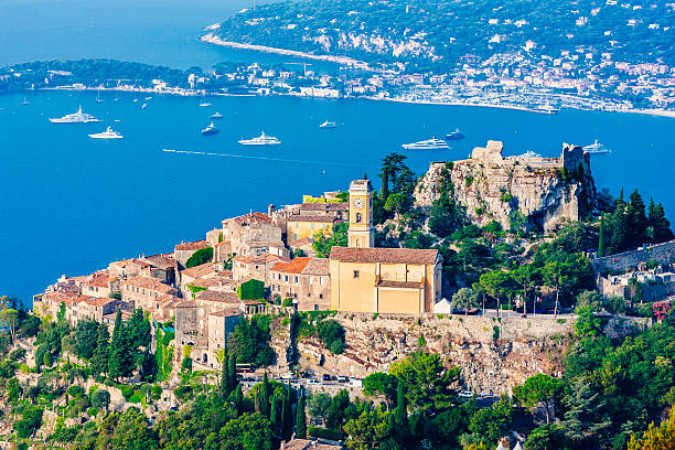 Village of Eze on the French Riviera stock photo