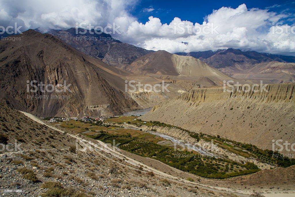 Village of Kagbeni, Nepal stock photo