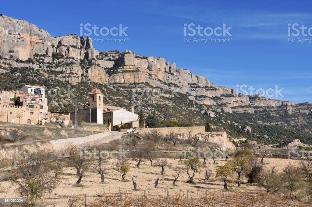 Village of La Morera de Montsant, El Priorat, Tarragona province, Catalonia, Spain stock photo