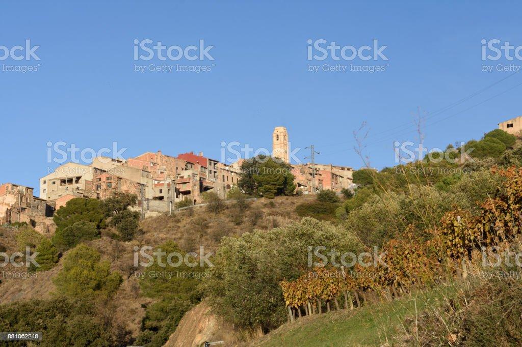 village of La Vilella Alta, el Priorat, Tarragona, Catalonia, Spain stock photo