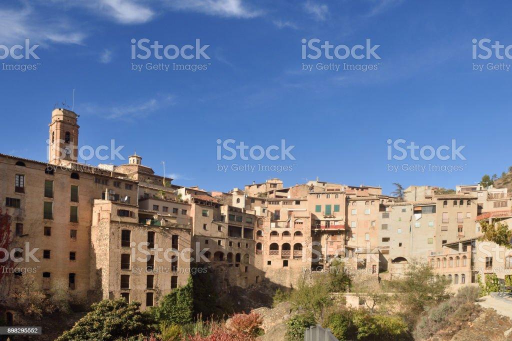 village of La Vilella Baixa, el Priorat, Tarragona, Catalonia, Spain stock photo
